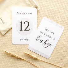 Load image into Gallery viewer, Pregnancy Milestone Cards - The Minimalist Collection Milestone Cards Blossom and Pear