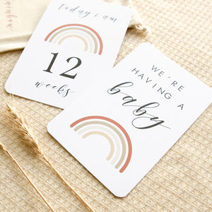 Almost Perfect - Pregnancy Milestone Cards - Rainbow Collection