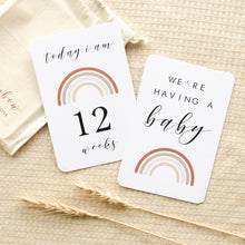 Load image into Gallery viewer, Almost Perfect - Pregnancy Milestone Cards - Rainbow Collection