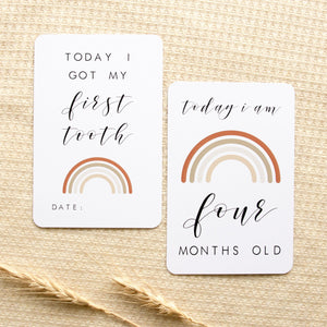 Baby Milestone Cards - Rainbow Collection Milestone Cards Blossom and Pear