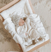 Load image into Gallery viewer, Heirloom Pointelle Knit Blanket - 100% Cotton
