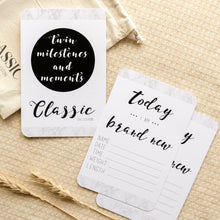 Load image into Gallery viewer, Twin Baby Milestone & Moment Classic Collection Milestone Cards Blossom and Pear