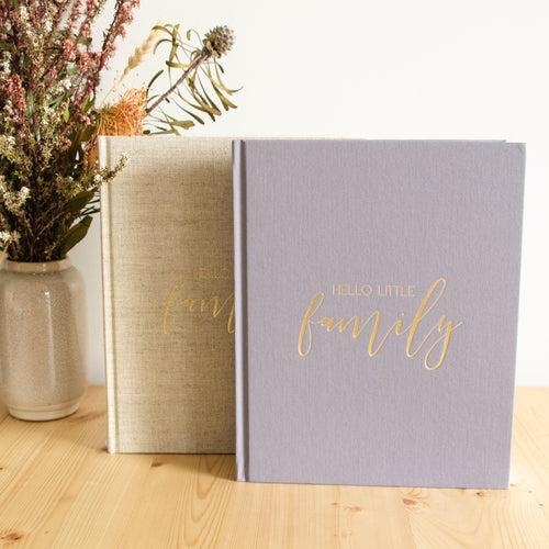 Hello Little Family - 25 Year Keepsake Family Journal Blossom and Pear