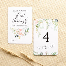 Load image into Gallery viewer, Baby Milestone Cards - Wildflower Collection Milestone Cards Blossom and Pear