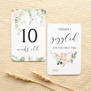 Baby Milestone Cards - Wildflower Collection Milestone Cards Blossom and Pear