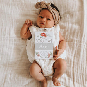 Almost Perfect- Baby Milestone Cards - Floral Collection