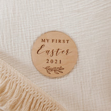 Load image into Gallery viewer, 'My First Easter' Wooden Plaque (Personalisation Available)