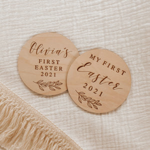 'My First Easter' Wooden Plaque (Personalisation Available)