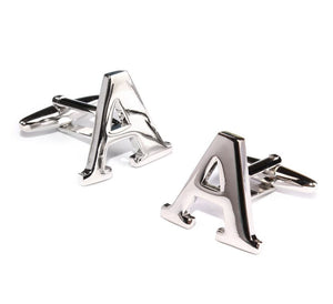 Carved Initial A Cufflinks