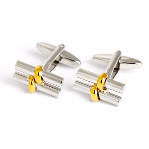 Parallel Cylinders Cufflinks - Standard Cufflink - Front View