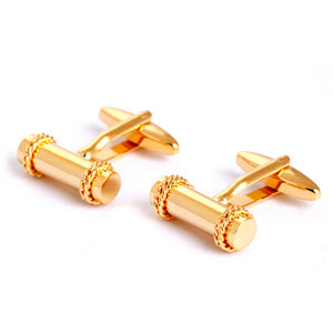 Baton Double Wreath Cufflinks - Standard Cufflink - Front View