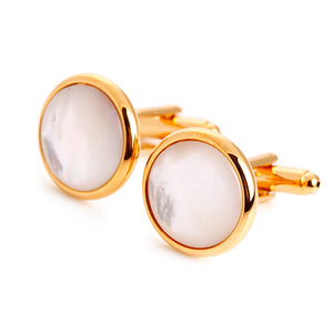 Bold Mother of Pearl Cufflinks - Standard Cufflink - Front View
