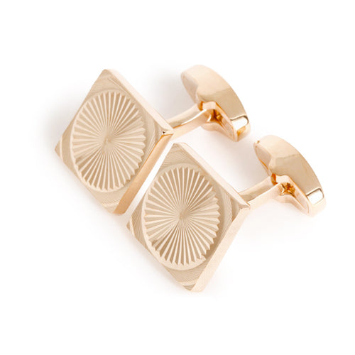 Turbine Cufflinks - Standard Cufflink - Rose Gold - Front View