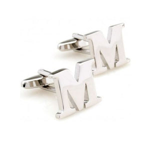 Carved Initial M Cufflinks