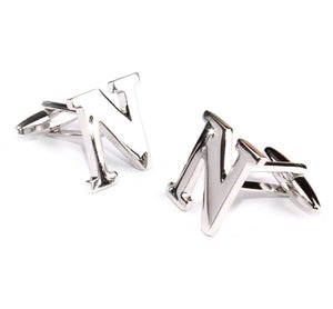 Carved Initial N Cufflinks