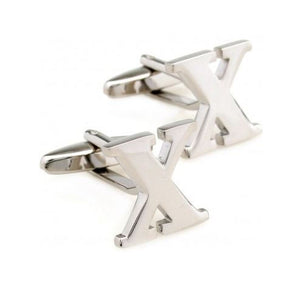 Carved Initial X Cufflinks