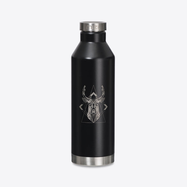 Mizu/Rothirsch Thermosflasche V8 Schwarz (Mizu V8 Insulated Bottle with Stainless Steel Cap, 750ml)