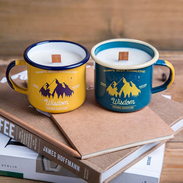 Emalco Emaille Kerze im Becher (Emalco Enamel Soy Wax Candle in Mug)