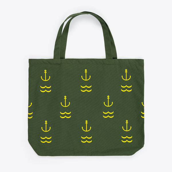 Anker XL-Strandtasche Grün (Anchor XL Beach Bag Green)