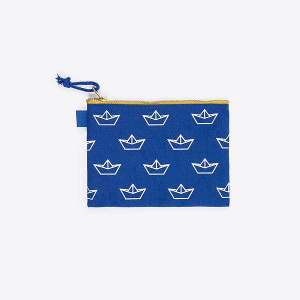 Boot Necessaire Blau (Boat Zipper Pocket Blue)