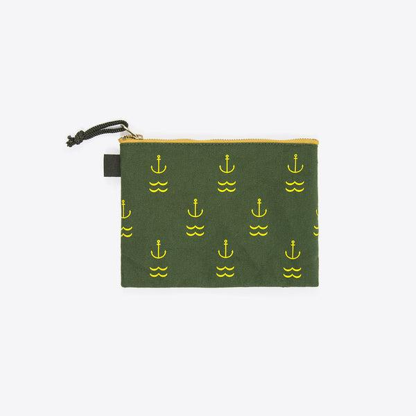 Anker Necessaire Grün (Anchor Zipper Pocket Green)
