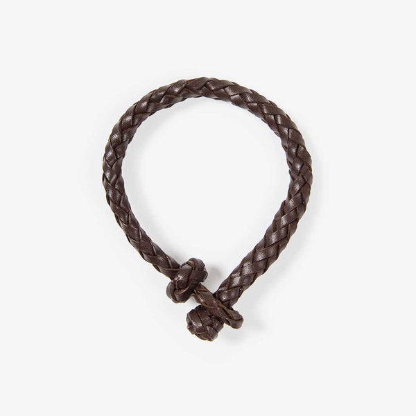 Geflochtenes Lederarmband Braun (Braided Leather Bracelet Brown)