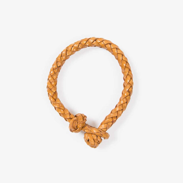 Geflochtenes Lederarmband Natur (Braided Leather Bracelet Natural)