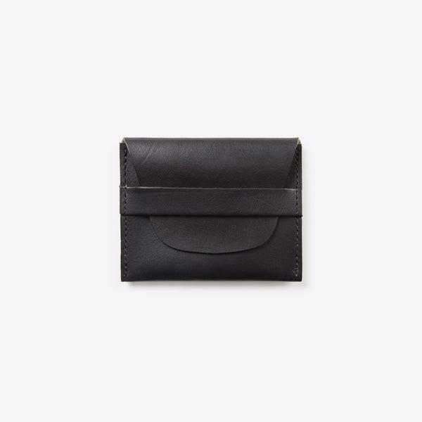 Kreditkarten Portemonnaie aus Leder Schwarz (Credit Card Leather Envelope Black)