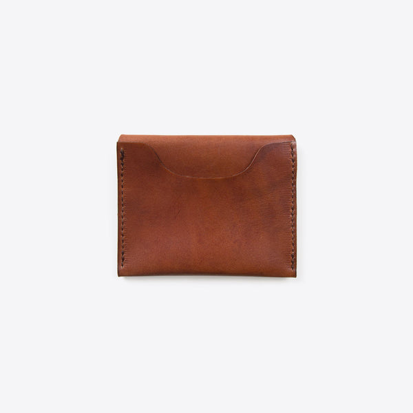 Credit Card Leather Envelope Brown