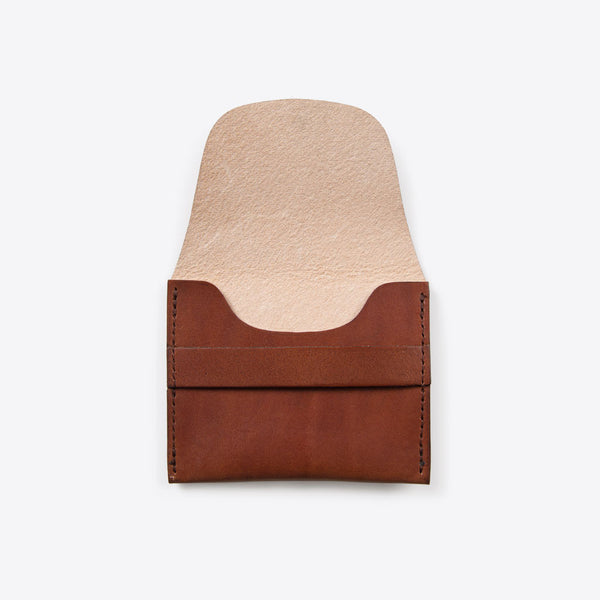Kreditkarten Portemonnaie aus Leder Braun (Credit Card Leather Envelope Brown)