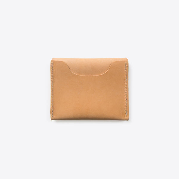 Kreditkarten Portemonnaie aus Leder Natur (Credit Card Leather Envelope Natural)