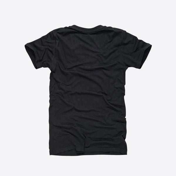 T-Shirt mit V-Ausschnitt Schwarz (Everyday Deep V-Neck T-Shirt Black)