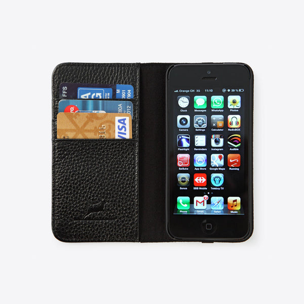 iPhone 5 Leather Wallet Black