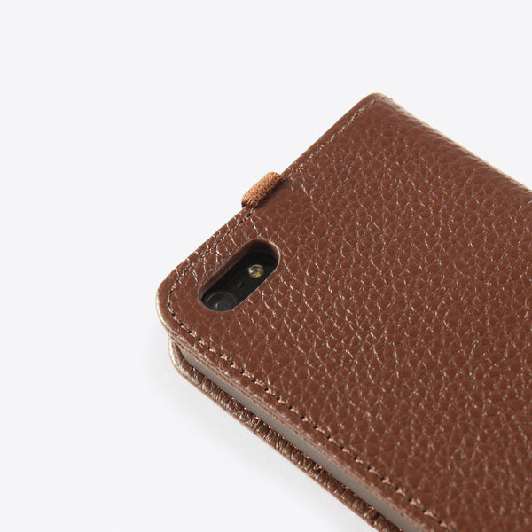 iPhone 5 Leather Wallet Brown