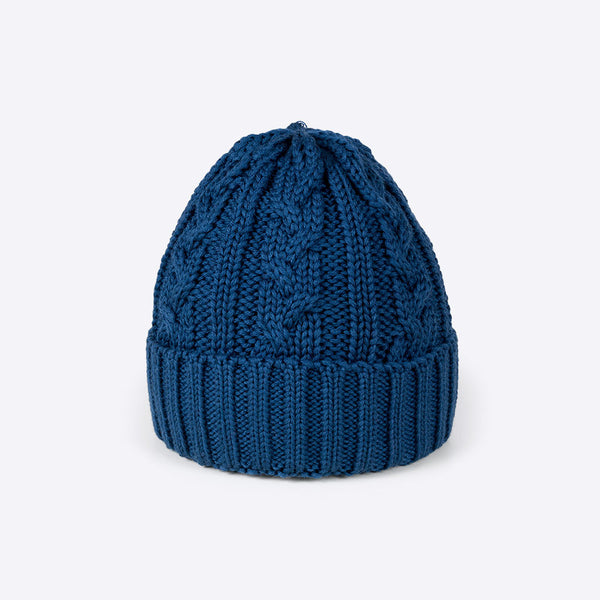 Cable Stitch Beanie Petrol