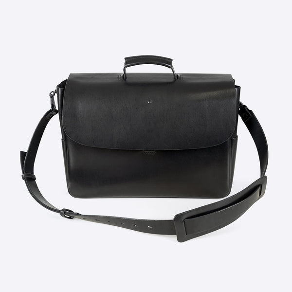 Aktentasche aus Leder Schwarz (Leather Briefcase Black)