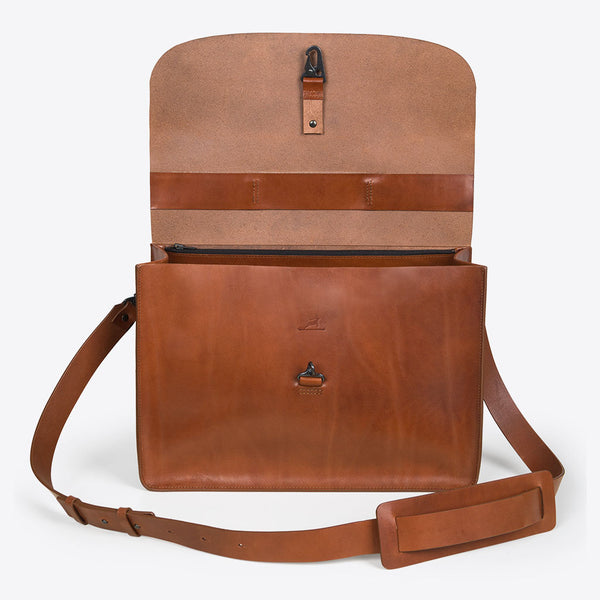 Aktentasche aus Leder Braun (Leather Briefcase Brown)