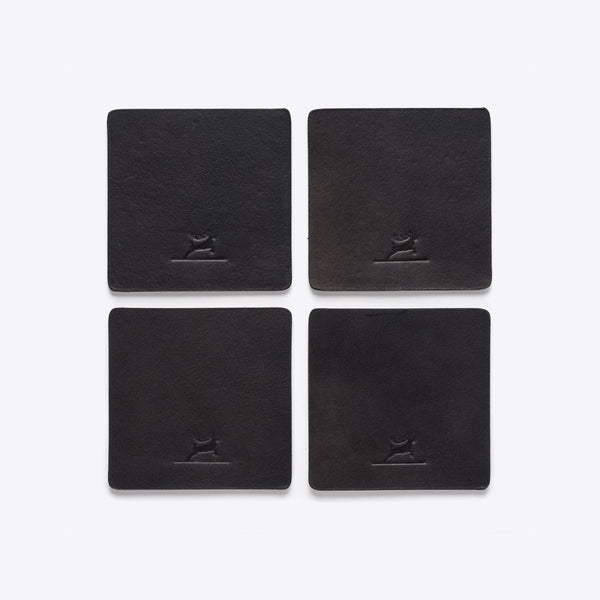 Leather Coasters Black