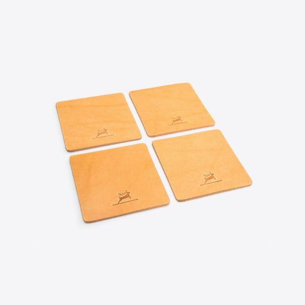 Lederuntersetzer Natur (Leather Coasters Natural)