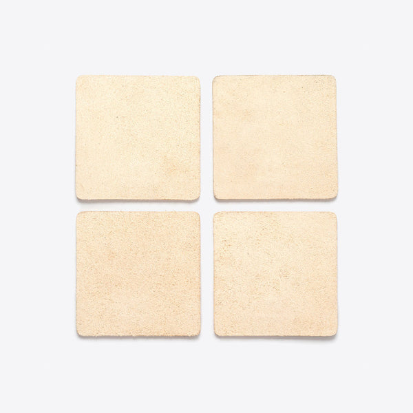 Leather Coasters Natural