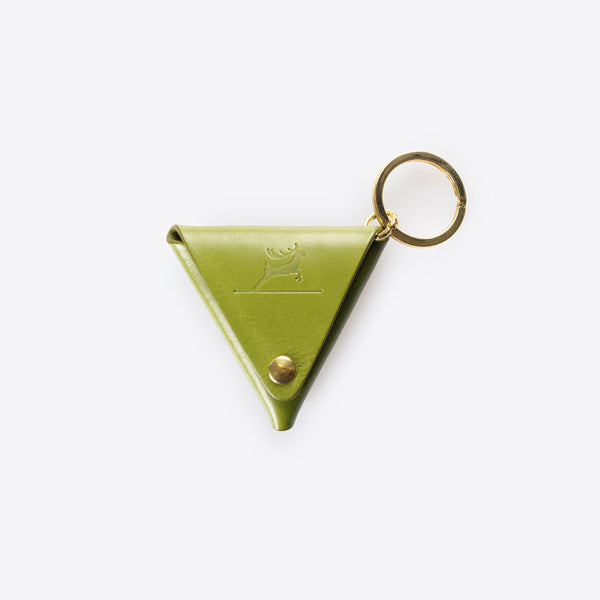 Leather Coin Pocket Olive