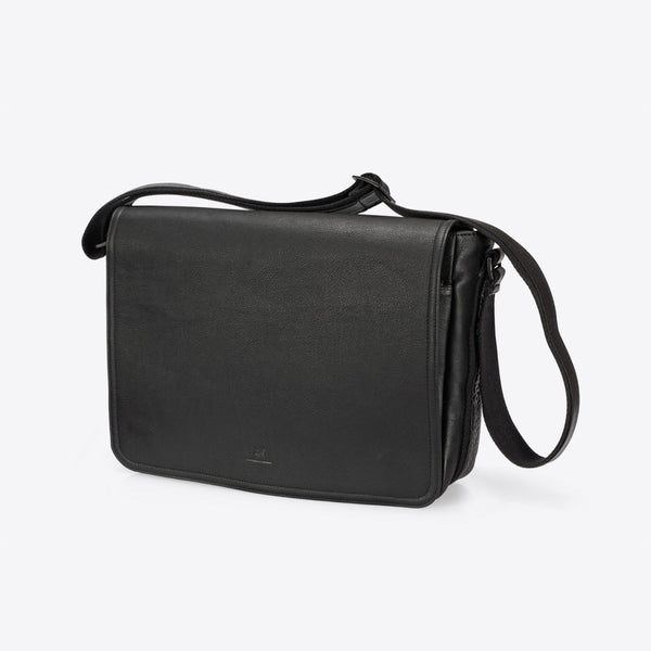 Leather Messenger Black