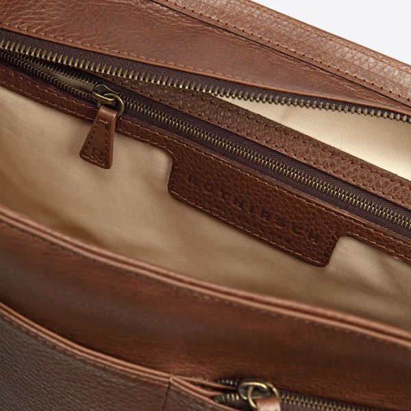 Leder Umhängetasche Braun (Leather Messenger Brown)
