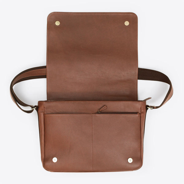Leather Messenger Brown