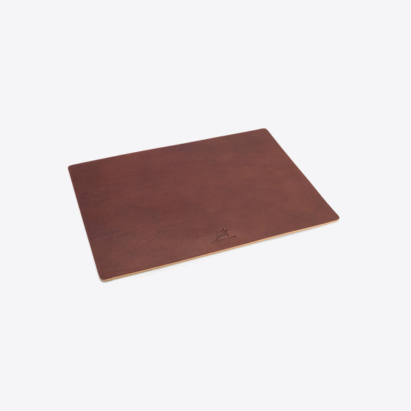 Mausunterlage aus Leder Braun (Leather Mousepad Brown)