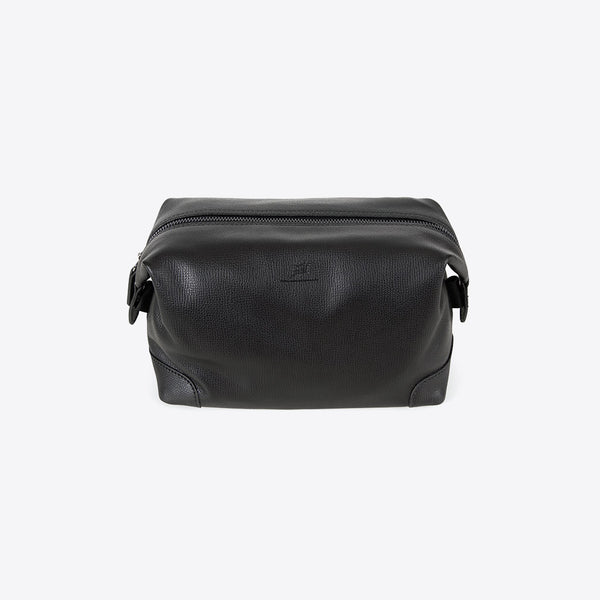 Leder Necessaire Schwarz (Leather Toilet Bag)