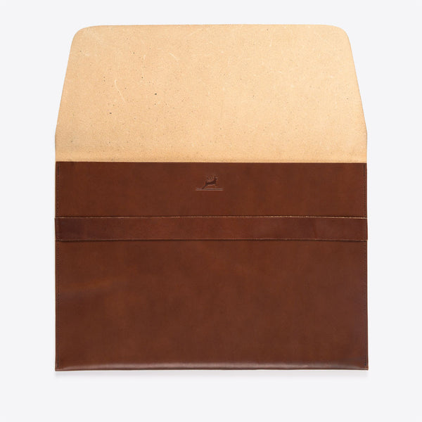 Lederhülle Braun MacBook Air / Pro (MacBook Leather Envelope Brown)