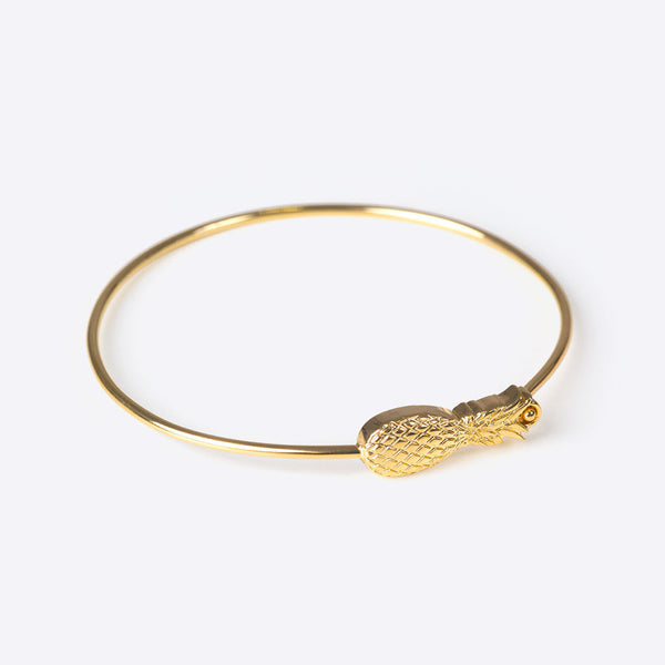 Ananas Armreif Gold (Pineapple Bracelet Gold)