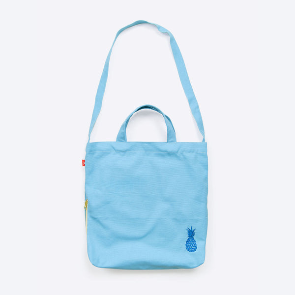 Ananas Freizeittasche Blau (Pineapple Waxed Cotton Shopper Blue)