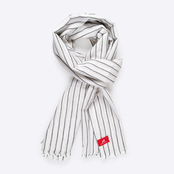 Pinstriped Cotton Scarf